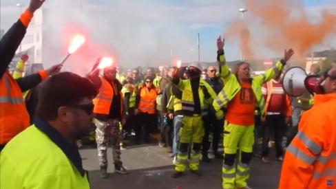 Triestes ostas dokeri solidaritātes vārdā streiko pret «green pass». Papildināts: streiks online