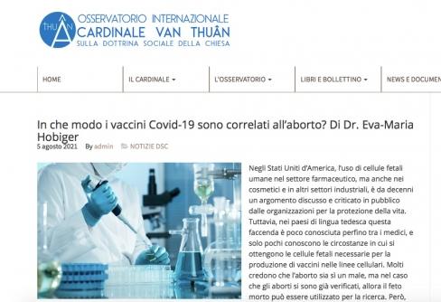 Kādā veidā Covid-19 vakcīnas ir saistītas ar abortu?